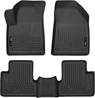 Husky Liners 99091 Black Weatherbeater Front & 2nd Seat Floor Liners Fits 2015-19 Jeep Cherokee