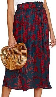 Womens Polka Dot Pockets Pleated Skirt Vintage Puffy Swing Casual Dress