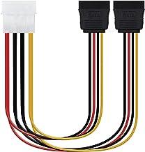 NANOCABLE 10.19.0101-OEM - Cable SATA alimentación MOLEX a 2 SATA, 4pin/M-2xSATA/H, Macho-Hembra, 20cm