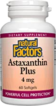 Natural Factors, Astaxanthin Plus, Antioxidant Support for Eye, Cardiovascular and Immune Health, 60 Softgels