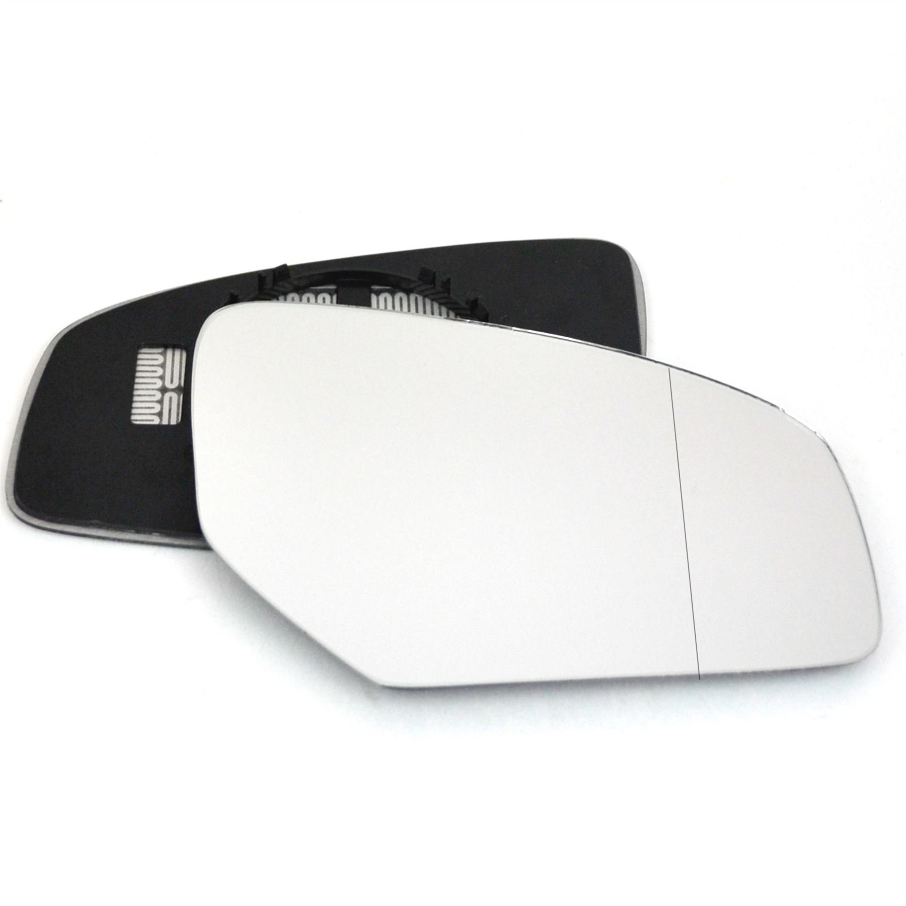Passenger left hand side wing door Silver mirror glass with backing plate #W-SN//L-TAYS99 Clip On