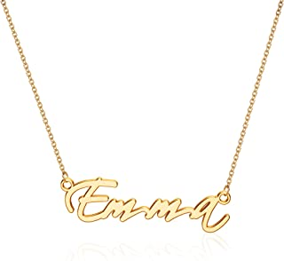 MONOZO Name Necklace Personalized, 14K Gold Filled Name Necklace Girls Dainy Nameplate Necklace Personalized Jewelry Gifts...