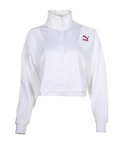 PUMA Tailored For Sport Cropped 1/2 Zip (PUMA White/Multi) Women