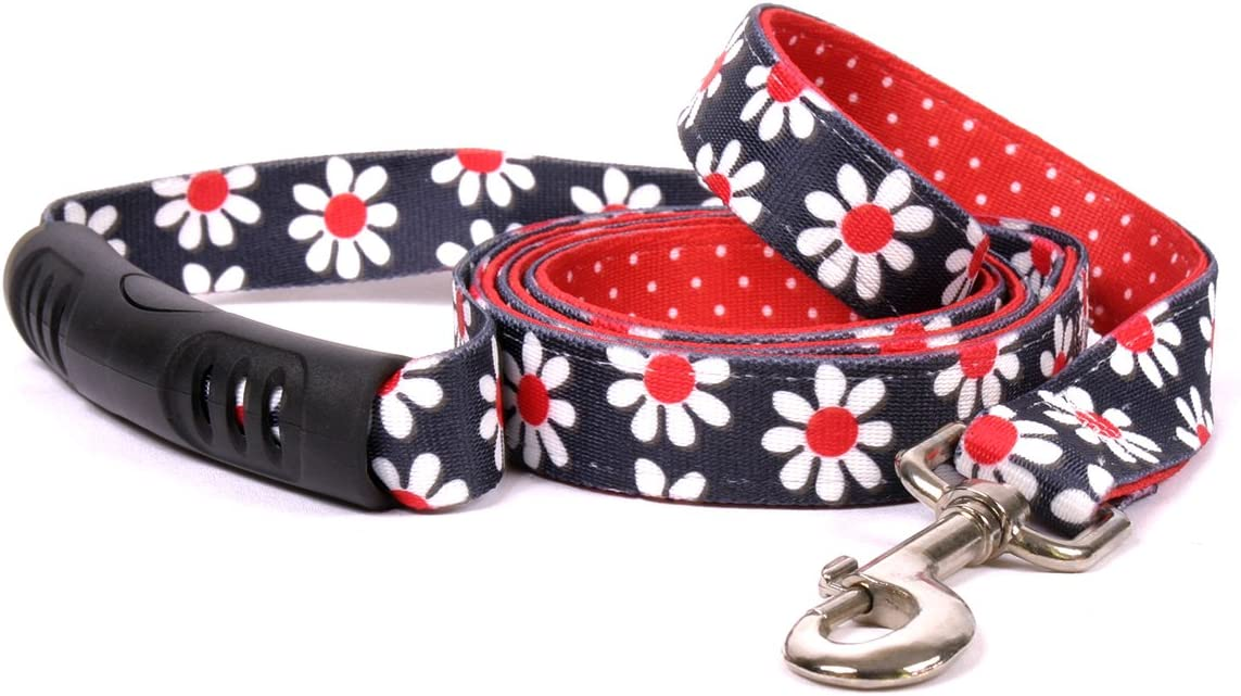 Yellow Dog Design Black Daisy Max 50% OFF Popular products Leash Uptown