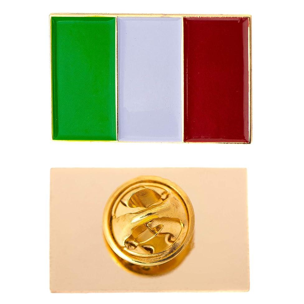 Desert Cactus Italy Country Rectangle Flag Lapel Pin Enamel Made of Metal Souvenir Hat Men Women Patriotic Italian (Rectangle Pin)