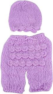 Light Purple Fdit Cute Baby Newborn Infant a Mano Cappello Foto Fotografia Prop Costume Abiti rifornimenti