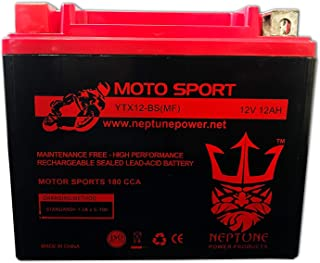 YTX12-BS 12V 10AH Gel Motorcycle Battery for Honda, Suzuki, Kawasaki Brand Product Replacement by Neptune