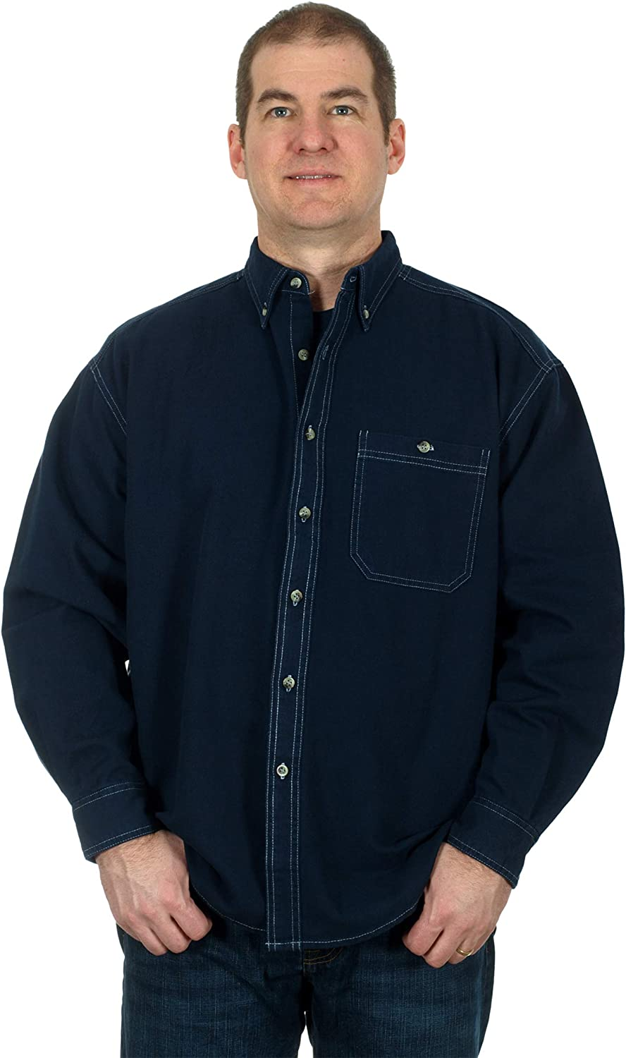 Blue Pointe Men's Free shipping / New Denim Shirt Free shipping Button with Long - Down