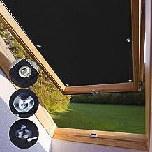 KINLO Protección Solar térmica para Ventanas detecho Protección térmica para Interiores sin taladrar y sin Pegamento Gran selección para Ventanas Velux CK04-38 x 75cm - Negro