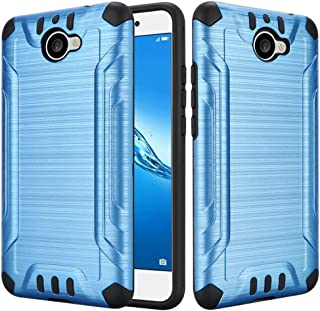 Compatible with Huawei Ascend XT2 H1711 / Huawei Elate 4G LTE Case Slim Armor Heavy Duty Brushed Metal Metallic Finish TPU Shock Impact Dual Layer Protection (Blue)