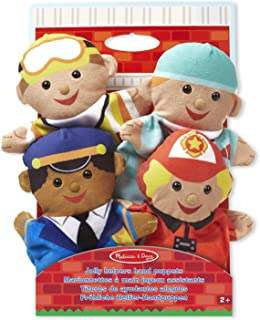 Melissa & Doug Jolly Helpers Hand Puppets | Puppets & Theaters | Soft Toy | 2+ | Gift for Boy or Girl