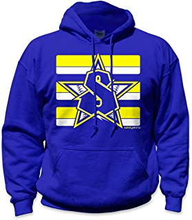 SafetyShirtz Classic Seattle Safety Hoody Blue/Yellow