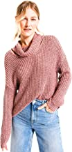 Rag Poets RW183548 Danae Cowl Cut Out Neck Sweater in Apple Butter