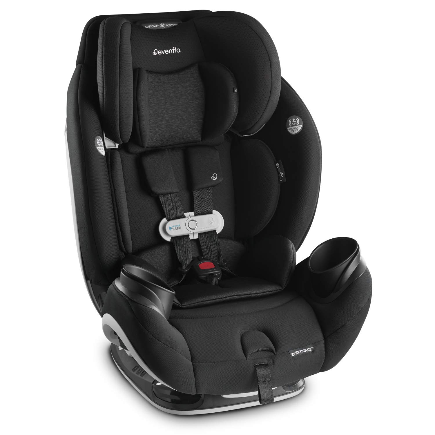 Onyx Evenflo Gold SensorSafe EveryStage Smart All-in-One Convertible Car Seat