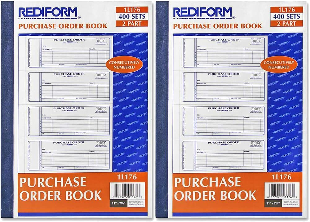 Rediform Carbonless Purchase Order New life Book 7 Dedication x Numbered 2.75 Inch