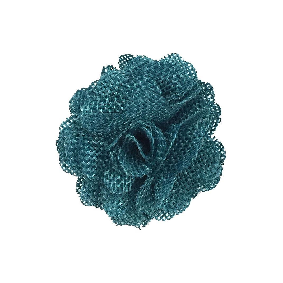 Wrapables Shabby Chic Burlap Rose Flower (Set of 20), Teal