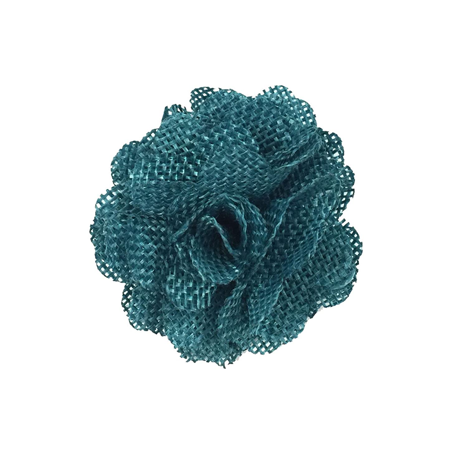 Wrapables Shabby Chic Burlap Rose Flower (Set of 20), Teal