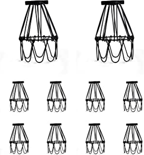Industrial Metal Bird Cage Lamp Guard String Light Shade Open Close Flower Ceiling Hanging Pendant Island Lighting Vintage...