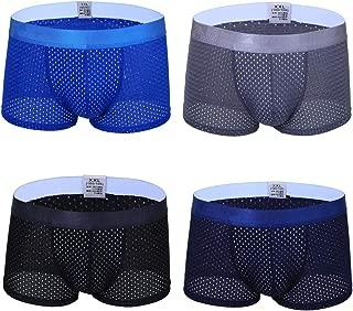FLX·HR Men's Boxer Briefs ice Silk mesh Underwear Shorts Thin Dry Underwear Men Breathable Comfort Flat Pants