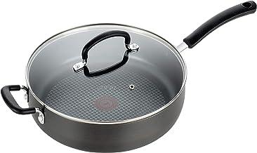 T-fal, Ultimate Hard Anodized, Nonstick 5 Qt. Jumbo Cooker, Black, E76582, 5 Quart, Grey