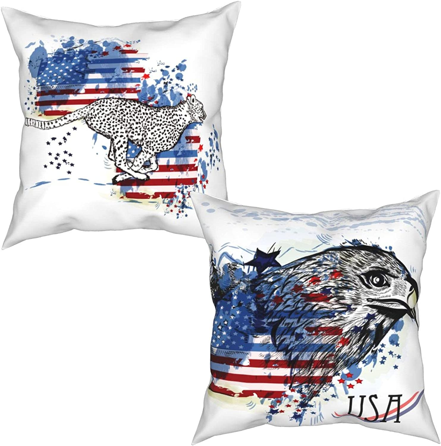 USA Eagle Flag Independence National uniform free shipping Day Throw Outdoor Sale Special Price Covers Pillow Pill