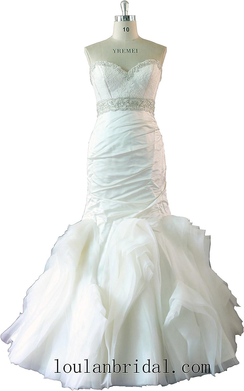 JingNiang Fashion Lace Satin bridal gown Hand Crytals wedding dress