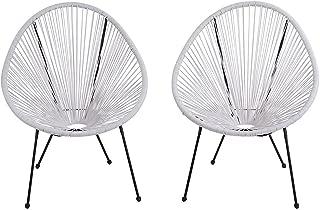 Acapulco Patio Chair Outdoor Gift Idea [CM-0104] (White)