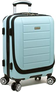 Dejuno Dejuno Compact Hardside 20-inch Carry-on Luggage with Laptop Pocket - Sky Blue