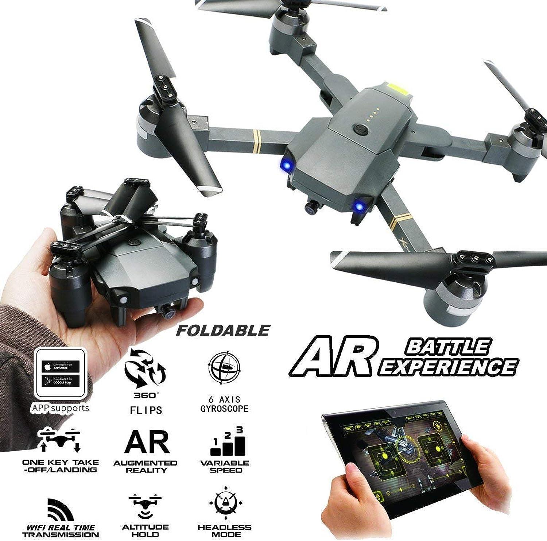 Quadcopter, 1080p Wide-Angle HD Aerial Photography Gravity Sensing AR Game Mode Using WiFi Echtzeit-übertragung, Faltfernbedienung Drone