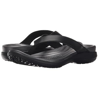 Crocs Capri V Flip (Black/Graphite) Women