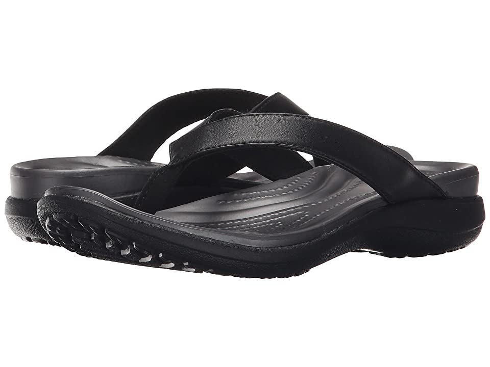 Crocs Capri V Flip (Black/Graphite) Women