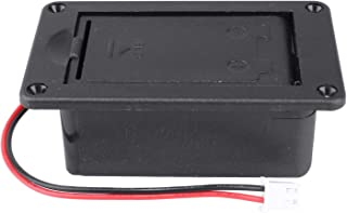 Guitar Pickup Battery Box 9V Battery Box Case Cover Holders for Guitar Bass Pickup Black