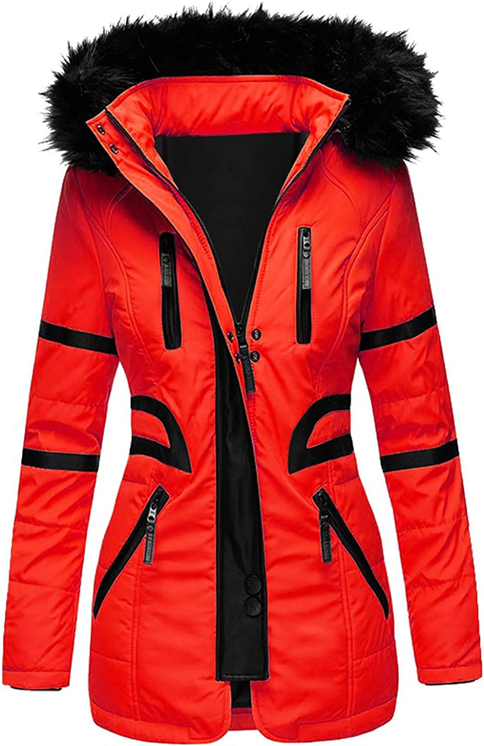 HGWXX7 Womens Overcoat Fashion Oversized Parka Ranking TOP15 Up Industry No. 1 wit Zip Jacket