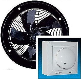 Uzman-Versand Pared ventilador 300mm, con 300 Watt Regulador de Velocidat Extractor Axial extractores aspiracion 230v