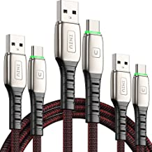 INIU USB C Cable, 【3 Pack】3.1A QC Fast Charging USB Type C Cable, Braided (1.6+3.3+6.6ft) USB-C Phone Charger Cables for S...