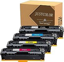 JUSTCOLOR Compatible Toner Cartridge Replacement for HP 203A CF540A CF541A CF542A CF543A Use for Color Laserjet M254dw...