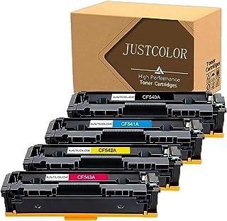 خرطوشة حبر متوافقة مع JUSTCOLOR لطابعة HP 203A CF540A CF541A CF542A CF543A تستخدم للون ليزر جيت M254dw M254nw MFP M280 M28...