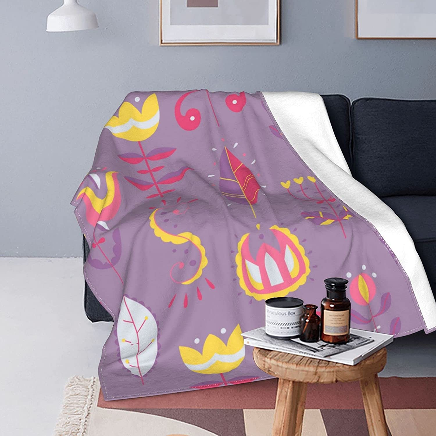 ONE TO PROMISE Scandinavian Style Sof Super safety Light Blanket Purple Bombing free shipping