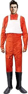 X-wing Rebel Fighter Pilot Orange Jumpsuit + White Flak Vest Star Wars Costume