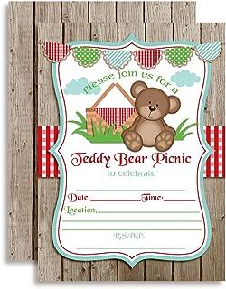 Teddy Bear Picnic Birthday Party Invitations, 20 5