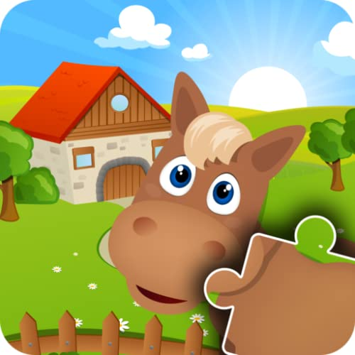 Farm Animal Games - Adorable family Jigsaw Puzzles for Kids, boys, girls and preschool toddlers - Free trial