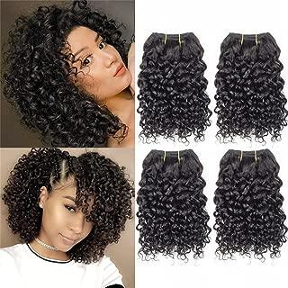 Curly Hair 8 Inches 4 Bundles Short Human Hair Kinky Curly Wave Brazilian Virgin huamn Hair 50 Gram/Bundle (8