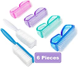 Nail Brush Fingernail Brush Cleaner Hand Scrub Cleaning Brush for Toes Shower (Four Colors)
