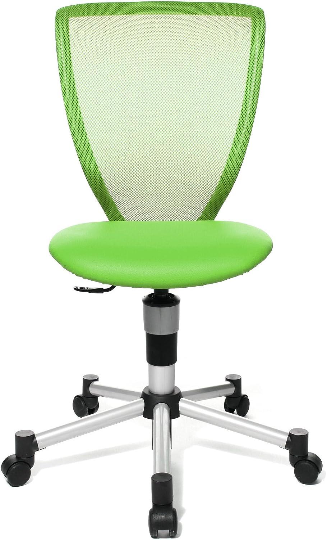 Topstar 71487S05 Titan Junior, Schreibtischstuhl, Kinderdrehstuhl, Jugenddrehstuhl, Netzrückenlehne und Bezugsstoff grün