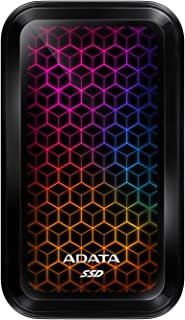 ADATA RGB SE770G 512GB USB3.2 Type-C 高速転送 ゲームおよびパーソナル外部SSD (ASE770G-512GU32G2-CBK)