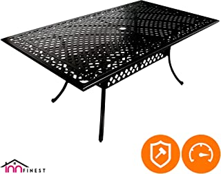 outdoor table tops with umbrella hole