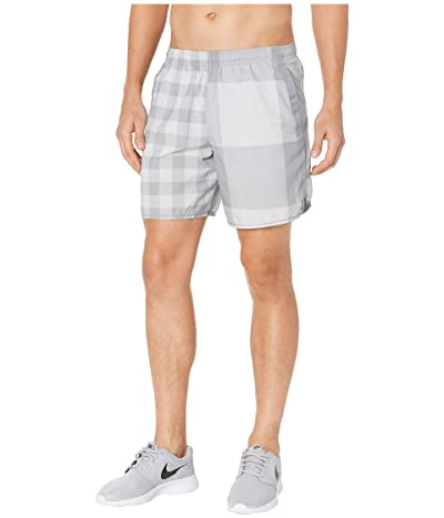 Nike 7 Challenger Shorts Brief Windrunner Pull-On (Grey Fog/Iron Grey/Reflective Silver) Men