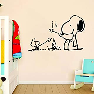 Snoopy Wall Decals for Kids Bedroom/Snoop Dog Boys Room Decor/Vinyl Art Stickers Decal Childrens Rooms/Cartoon Character F...