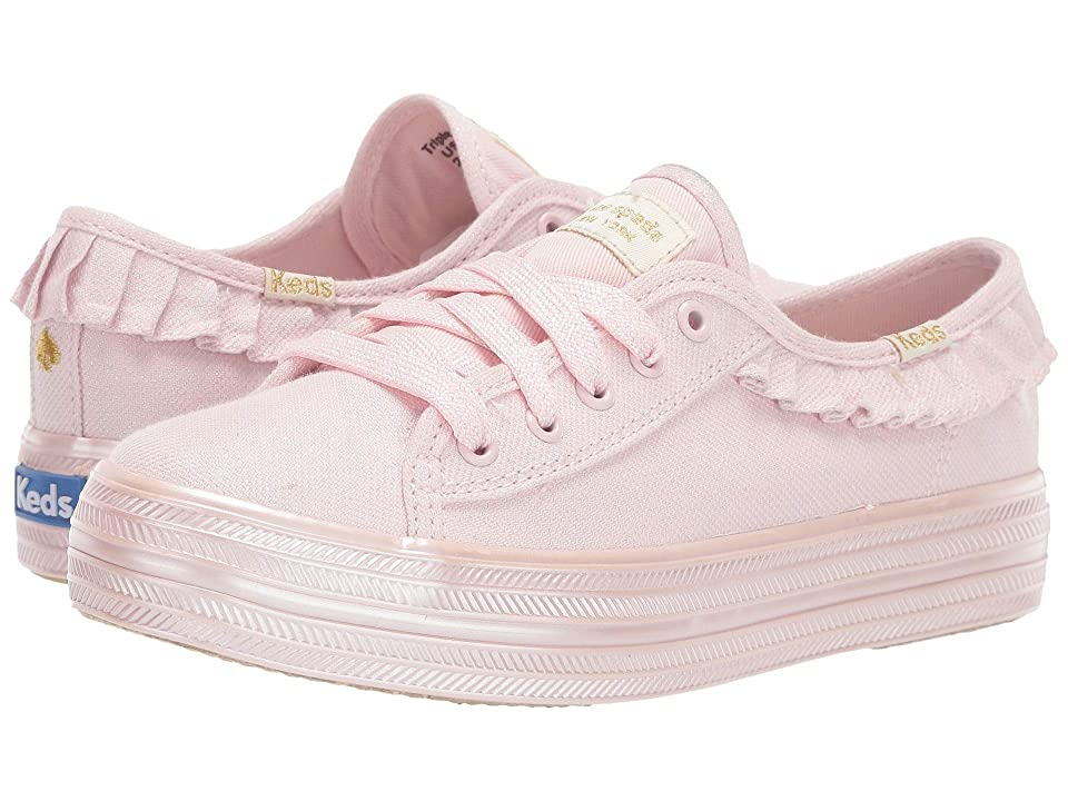 Keds x kate spade new york Kids Triple Kick Ruffle (Little Kid/Big Kid) (Pink) Girl
