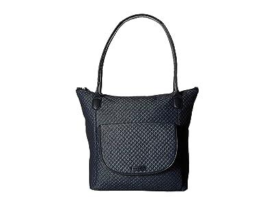 Vera Bradley Carson North/South Tote (Denim Navy) Tote Handbags